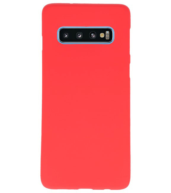 Samsung Samsung Galaxy S10 Rood | Backcover Siliconen  Hoesje  | WN™ - hoesjeshoek