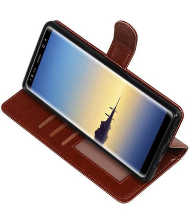 | Samsung Galaxy Note 8 Portemonnee hoesje booktype wallet case Bruin | WN™ - hoesjeshoek