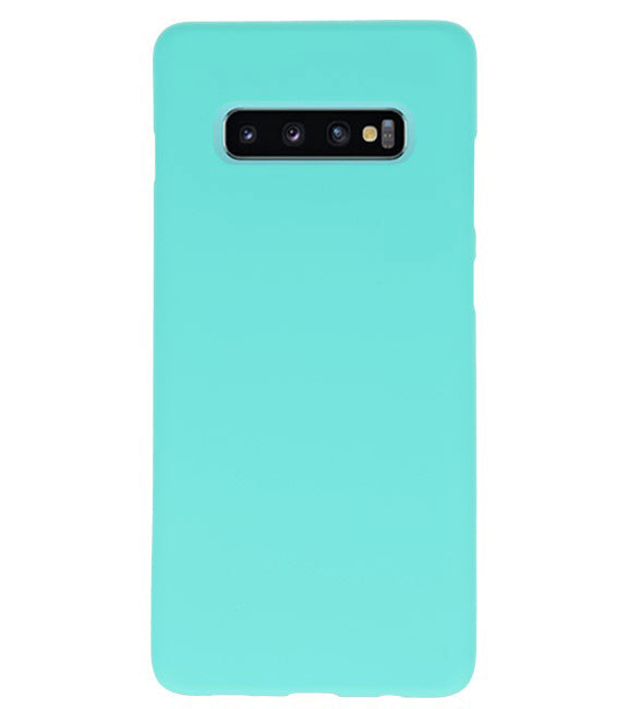 Samsung Samsung Galaxy S10 Plus Tuqquoise | Backcover Siliconen  Hoesje  | WN™ - hoesjeshoek