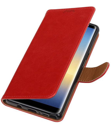Samsung Galaxy Note 8 Rood | Premium TPU PU Leder bookstyle / book case/ wallet case  | WN™ - hoesjeshoek