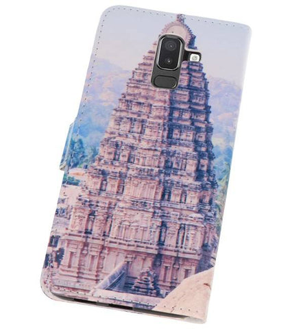 Samsung Galaxy J8 | Temple 1 bookstyle / book case/ wallet case Hoesje  | WN™ - hoesjeshoek