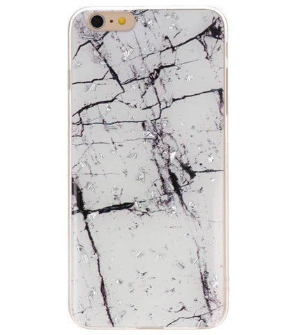 iPhone 6 Plus Marble Wit | Print Hardcase  | WN™ - hoesjeshoek