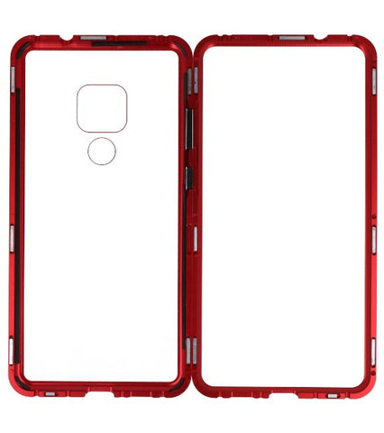 Huawei Mate 20 Rood - Transparant | Magnetic Back Cover  | WN™ - hoesjeshoek