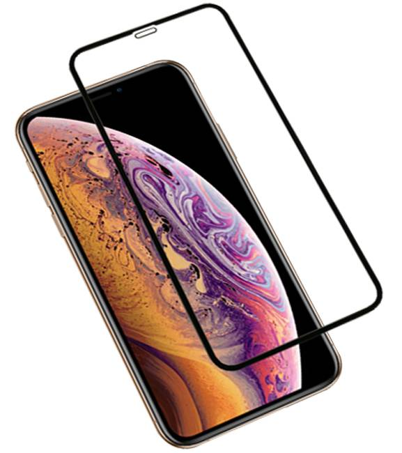 iPhone XS Max Zwart | 3D Tempered glass/ beschermglas/ screenprotector  | WN™ - hoesjeshoek