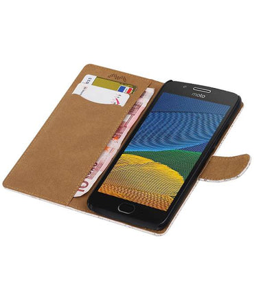 Motorola Moto G5 Wit | Lace bookstyle / book case/ wallet case Hoes  | WN™ - hoesjeshoek