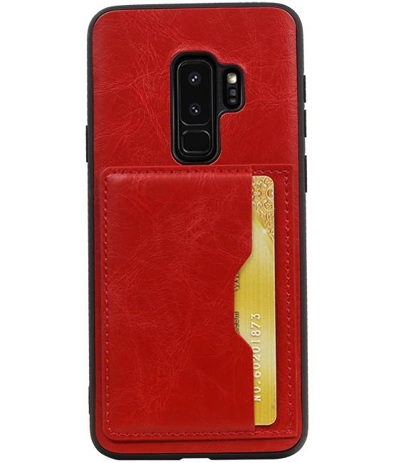 Samsung Galaxy S9 Plus Rood | Staand Back Cover 1 Pasjes  | WN™ - hoesjeshoek