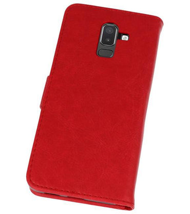 Samsung Galaxy J8 Rood | bookstyle / book case/ wallet case Wallet Case Hoesje  | WN™ - hoesjeshoek