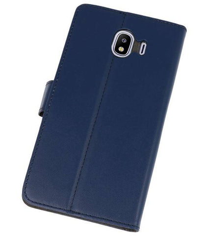 Samsung Galaxy J4 2018 Navy | Wallet Case Hoesje  | WN™ - hoesjeshoek