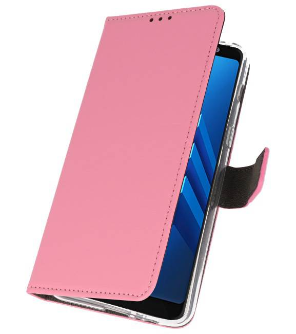 Samsung Galaxy A8 Plus 2018 Roze | Wallet Case Hoesje  | WN™ - hoesjeshoek