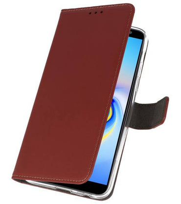 Samsung Galaxy J6 Plus Bruin | Wallet Case Hoesje  | WN™ - hoesjeshoek