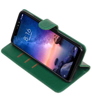 XiaoMi Redmi Note 6 Pro Groen | Premium bookstyle / book case/ wallet case  | WN™ - hoesjeshoek