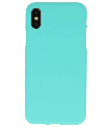iPhone XS / X Turquoise | Backcover Siliconen  Hoesje  | WN™ - hoesjeshoek