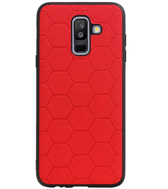 Samsung Samsung Galaxy A6 Plus 2018 Rood | Hexagon Hard Case  | WN™ - hoesjeshoek