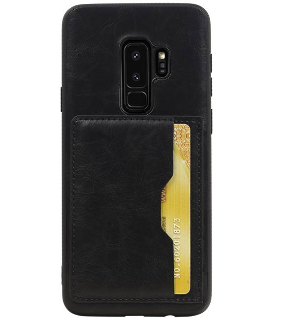 Samsung Galaxy S9 Plus Zwart | Staand Back Cover 1 Pasjes  | WN™ - hoesjeshoek