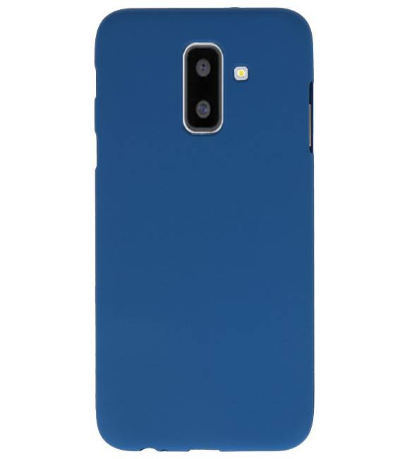 Samsung Samsung Galaxy A6 Plus Navy | Backcover Siliconen  Hoesje  | WN™ - hoesjeshoek