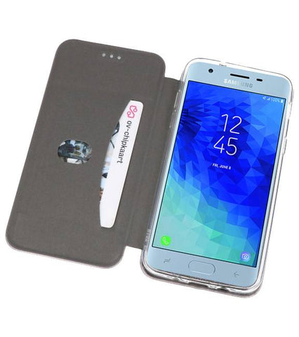 Samsung Galaxy J3 2018 Grijs | Slim Folio Case  | WN™ - hoesjeshoek