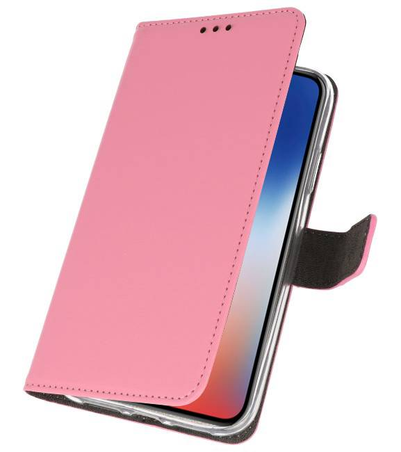 iPhone XS - X Roze | Wallet Case Hoesje  | WN™ - hoesjeshoek