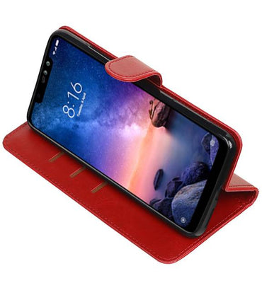 XiaoMi Redmi Note 6 Pro Rood | Premium bookstyle / book case/ wallet case  | WN™ - hoesjeshoek