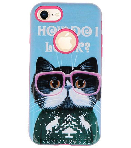 iPhone 8 I Look | 3D Print Hard Case  | WN™ - hoesjeshoek