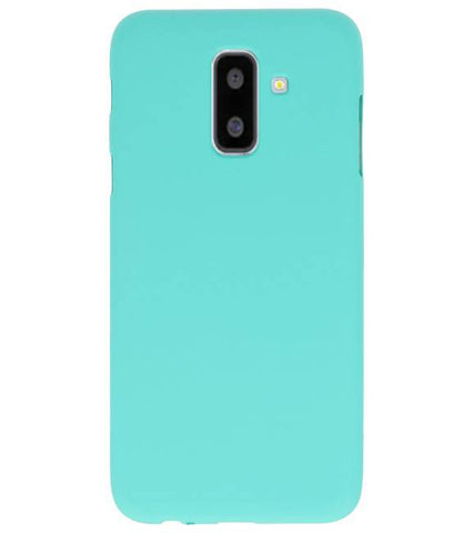 Samsung Samsung Galaxy A6 Plus Turquoise | Backcover Siliconen  Hoesje  | WN™ - hoesjeshoek