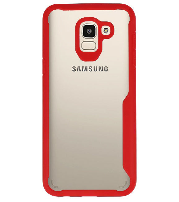 Samsung Samsung Galaxy J6 Rood | Focus Transparant Hard Cases  | WN™ - hoesjeshoek