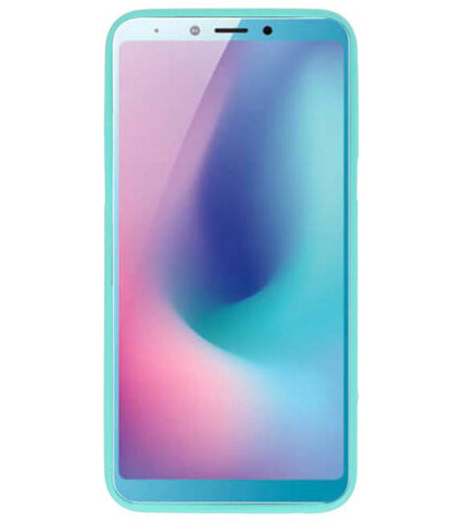 Samsung Samsung Galaxy A6s Turquoise | Backcover Siliconen  Hoesje  | WN™ - hoesjeshoek
