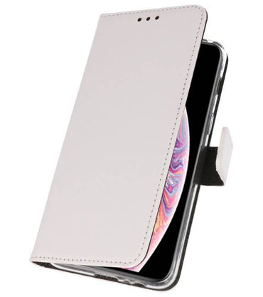 iPhone XS Max Wit | Wallet Case Hoesje  | WN™ - hoesjeshoek