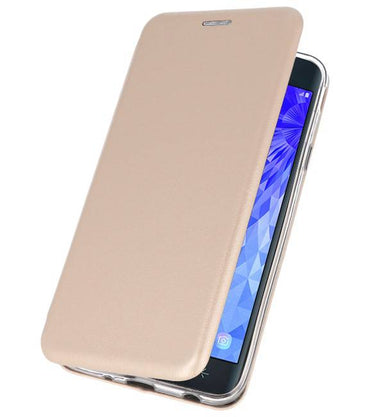 Samsung Galaxy J7 2018 Goud | Slim Folio Case  | WN™ - hoesjeshoek