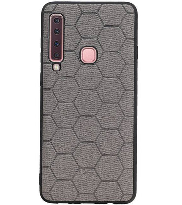 Samsung Samsung Galaxy A9 2018 Grijs | Hexagon Hard Case  | WN™ - hoesjeshoek