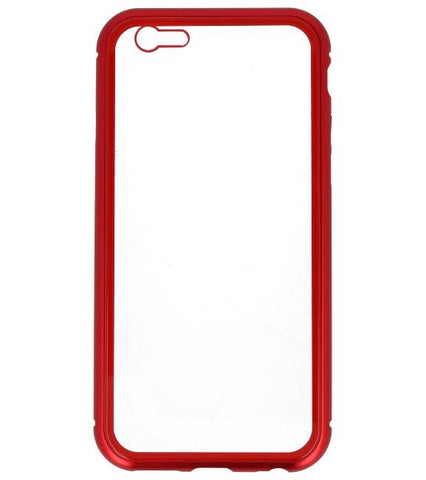 iPhone 6 Rood - Transparant | Magnetic Back Cover  | WN™ - hoesjeshoek