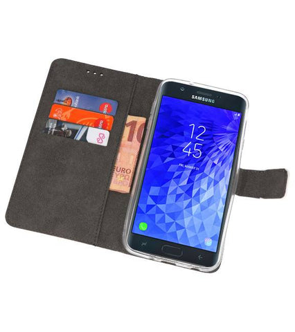 Samsung Galaxy J7 2018 Wit | Wallet Case Hoesje  | WN™ - hoesjeshoek