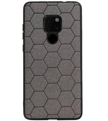 Huawei Mate 20 Grijs | Hexagon Hard Case  | WN™ - hoesjeshoek