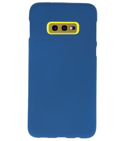 Samsung Samsung Galaxy S10e Navy | Backcover Siliconen  Hoesje  | WN™ - hoesjeshoek