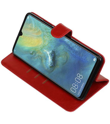 Huawei Mate 20 X Rood | Premium bookstyle / book case/ wallet case  | WN™ - hoesjeshoek