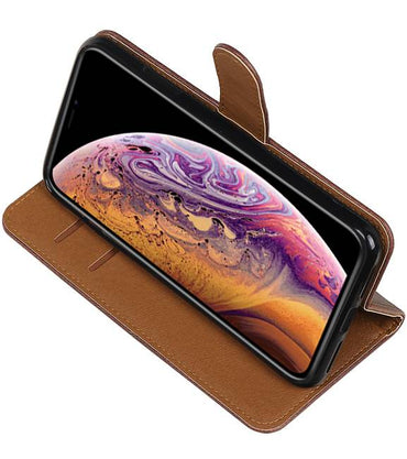 iPhone XS Max Mocca | Premium bookstyle / book case/ wallet case  | WN™ - hoesjeshoek