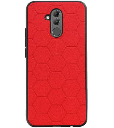 Huawei Mate 20 Lite Rood | Hexagon Hard Case  | WN™ - hoesjeshoek