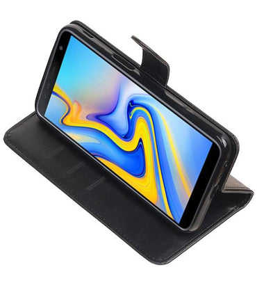 Samsung Samsung Galaxy J6 Plus Zwart | Premium bookstyle / book case/ wallet case  | WN™ - hoesjeshoek
