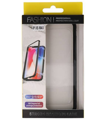 iPhone XS Max Zwart - Transparant | Magnetic Back Cover  | WN™ - hoesjeshoek