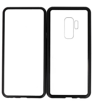 Samsung Galaxy S9 Plus Zwart - Transparant | Magnetic Back Cover  | WN™ - hoesjeshoek
