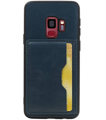 Samsung Galaxy S9 Navy | Staand Back Cover 1 Pasjes  | WN™ - hoesjeshoek