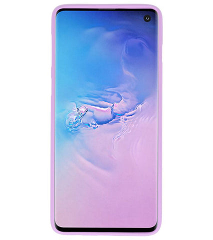 Samsung Samsung Galaxy S10 Paars | Backcover Siliconen  Hoesje  | WN™ - hoesjeshoek
