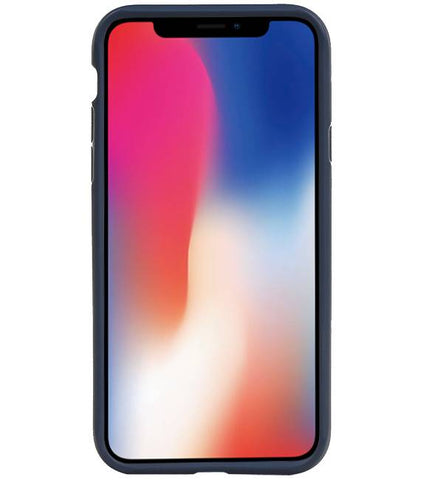 iPhone XS Navy Navy | Focus Transparant Hard Cases  | WN™ - hoesjeshoek