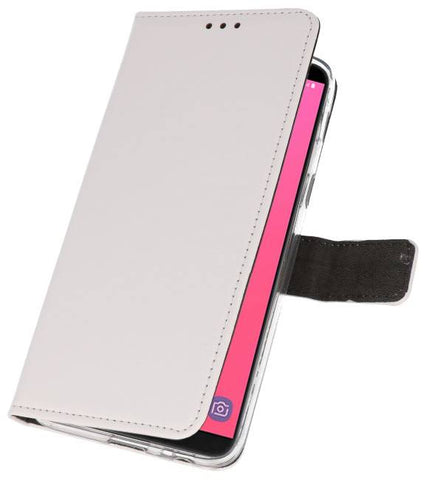 Samsung Galaxy J8 Wit | Wallet Case Hoesje  | WN™ - hoesjeshoek