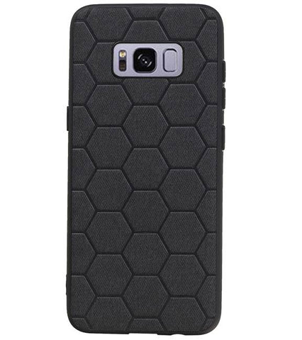 Samsung Samsung Galaxy S8 Zwart | Hexagon Hard Case  | WN™ - hoesjeshoek