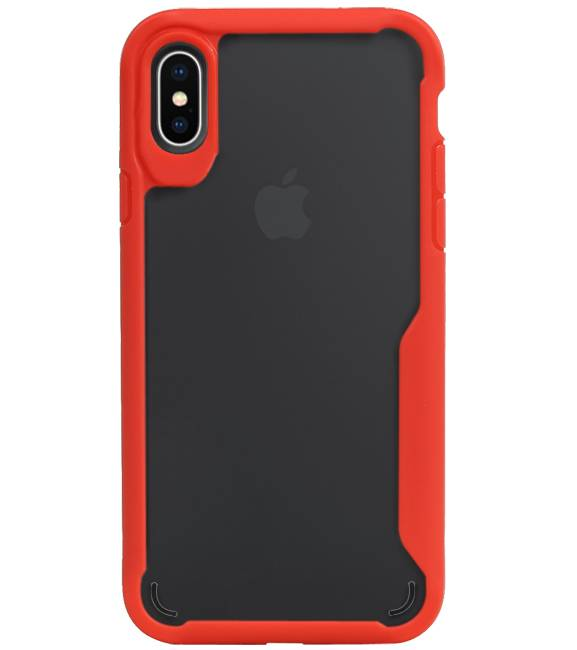 iPhone X / XS Rood | Focus Transparant Hard Cases  | WN™ - hoesjeshoek
