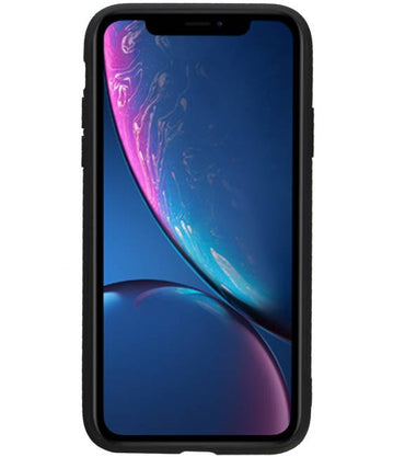 iPhone XR Zwart | Staand Back Cover 1 Pasjes  | WN™ - hoesjeshoek