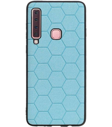 Samsung Samsung Galaxy A9 2018 Blauw | Hexagon Hard Case  | WN™ - hoesjeshoek