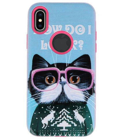 iPhone X I Look | 3D Print Hard Case  | WN™ - hoesjeshoek
