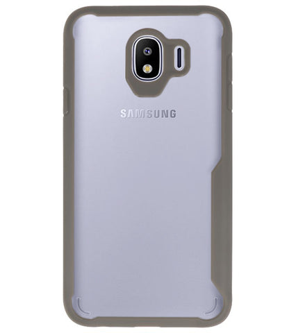 Samsung Samsung Galaxy J4 Grijs | Focus Transparant Hard Cases  | WN™ - hoesjeshoek