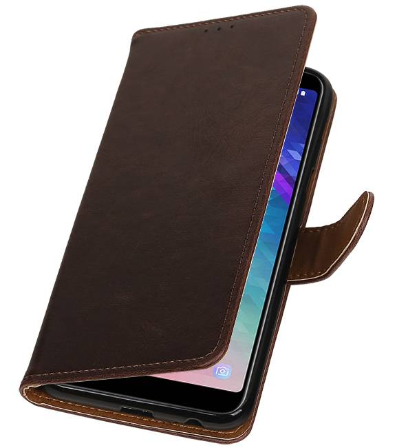 Samsung Samsung Galaxy A6 Plus 2018 Mocca | Premium bookstyle / book case/ wallet case  | WN™ - hoesjeshoek